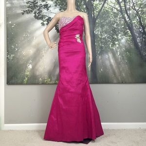 Gigi Prom Dress Beaded Evening Gown with Train